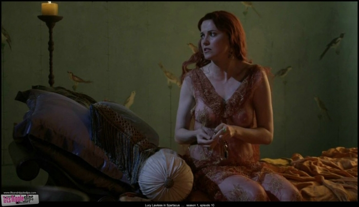 Lucy Lawless complete nude collection of scenes from Spartacus 2010. All v